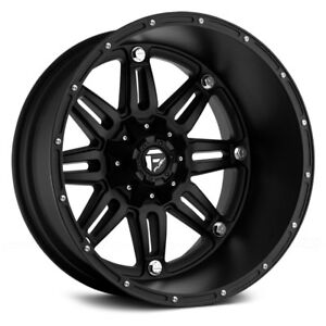 Fuel D531 Hostage Deep Lip Wheels 18x12 44 5x114 3 78 1 Black Rims Set Of 4