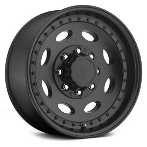 Vision Hauler Single Wheels 19 5x7 5 0 8x165 1 124 5 Black Rims Set Of 4
