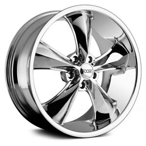 Foose F105 Legend Wheels 17x8 1 5x120 65 72 6 Chrome Rims Set Of 4