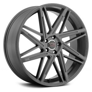 Milanni Blitz Wheels 22x9 15 5x120 65 74 1 Gunmetal Rims Set Of 4