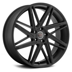 Milanni Blitz Wheels 22x9 15 5x120 65 74 1 Black Rims Set Of 4