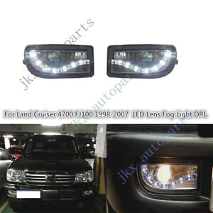 Led Lens Drl Bumper Fog Light J Fit For Toyota Land Cruiser Lc100 Fj100 1998 07