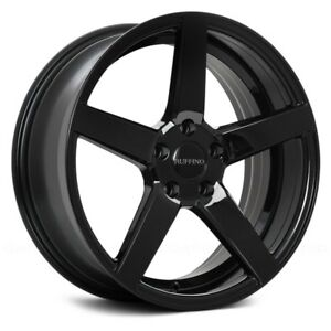Ruffino Ruf21 Boss Wheels 19x8 5 40 5x114 3 73 1 Black Rims Set Of 4
