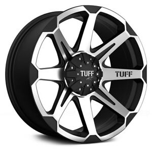 For Ford F 150 08 18 Tuff T05 Wheels 22x10 20 6x139 7 Black Rims Set Of 4