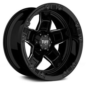 Tuff T10 Wheels 20x9 13 6x139 7 106 1 Black Rims Set Of 4