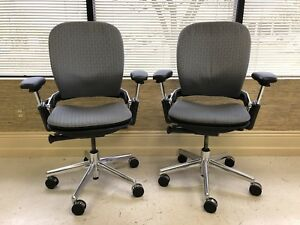 Steelcase Leap Fully Loaded Platinum Fram And Grey Fabric Sale Price
