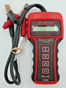 Snap On Tools Ya2636 Micro Lcd Battery Electrical System Tester
