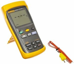 Fluke 53 2 Single Input Digital Thermometer With Usb Recording 3 Aa Battery