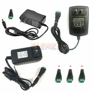 12v 1a 2a 3a Power Supply Charger Adapter Connector For Led Strip Flexible Light