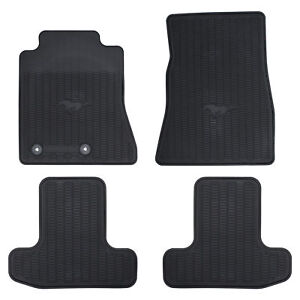 Oem New 2015 2018 Ford Mustang Front Rear All Weather Floor Mats Set Black