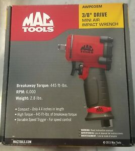 Mac Tools 3 8 Drive Mini Air Impact Wrench Awp038m Includes Protective Boot