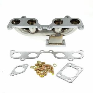 Fit Toyota Stainless Turbo T3 Manifold Header Tacoma Hilux 4runner 2rz Fe 3rz Fe