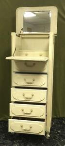 Antique Vintage Henry Link Tall Lingerie Chest Dresser Country French Wardrobe