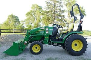 2016 John Deere 2032r Loader Mower Forks Ballast Box 37 Hours