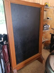 Large Double sided Wooden Display Case With Glass Doors