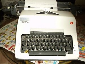 Olympia Vintage 1960s Manual Typewriter Heavy Duty Office Machine