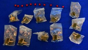 Lot Of 11 Miniature 4pdt Latching Pushbutton Switches