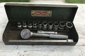 Vintage S k Tools 1 4 Drive Sae Socket Set With Box 13 Pieces