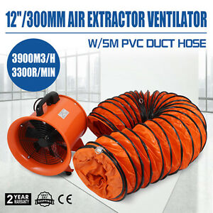 12 Extractor Fan Blower Ventilator 5m Duct Hose Industrial Ventilation Factory