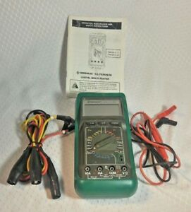 Greenlee Digital Multitester Ac dc Meter 93 70 3 Ph Sequence Full Set Of Leads