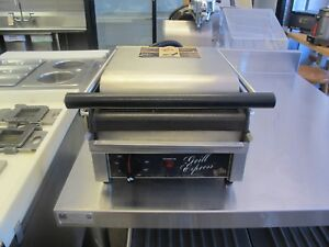 Star Gx10is Commercial Panini Press W Cast Iron Smooth Plates 120v 60 1ph