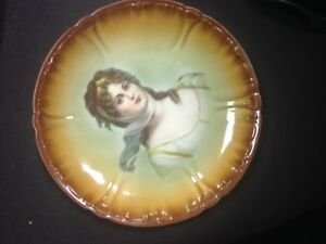 Beautiful Vintage Antique Plate With Portrait Of Queen Louise Of Prussia
