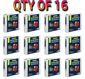 Qty Of 16 Pen gear 1 1 2 Binder Bundle Ruler Dividers 3 hole Document Holder