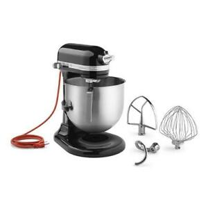 Kitchenaid Commercial Ksm8990ob 8 Qt Onyx Black Commercial Stand Mixer