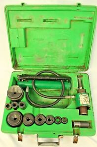 Greenlee 7306sb Hydraulic Knockout Punch Set With 767 Pump