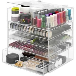 Whitmor 5 tier Acrylic Cosmetic Organizer And Jewelry Storage Display Case Clear