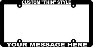 Thin Style Custom Personalized License Plate Frame