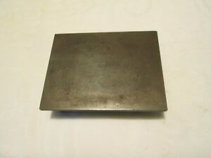 Vintage Webbed Cast Iron Machinist Surface Plate 4 1 2 X 6