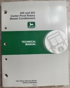 John Deere 945 And 955 Center Pivot Mower Conditioner Moco Tech Manual Tm1675