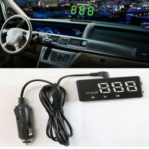 Universal Car Gps Hud Digital Head Up Display Truck Speedometer Speed Navigation