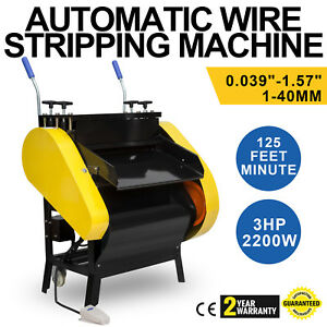 Automatic Wire Stripping Machine With Foot Pedal 1 40 Mm Peeling Cutting