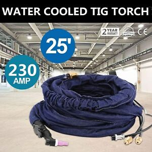 25ft Wp 20 Water Cooled 230amp Tig Torch Complete With Flexible