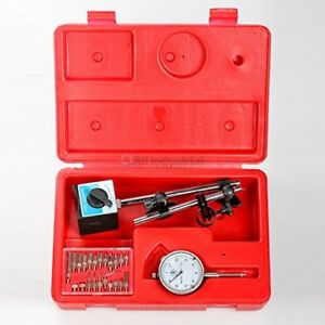 Dial Indicator Magnetic Base Starret Point Precision Inspection Set onoff 1 Pack