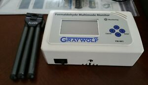 Graywolf Sensing Fm 801 Formaldehyde Hcho Meter Great Condition