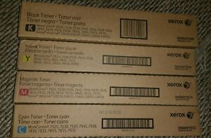 Brand New Xerox Toner Color Set 006r01509 006r01510 006r01511 006r01512