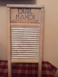 Vintage Dubl Handi Washboard Columbus Washboard Co Columbus Ohio Great Item