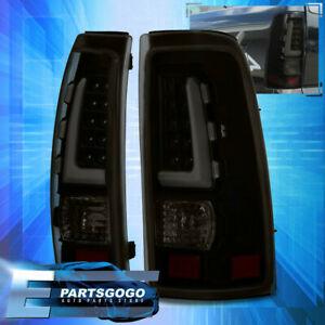 Smoke Led Tail Lights For 1999 2006 Chevy Silverado Gmc Sierra Black Housing