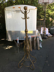 75 Tall Vintage Brass Coat Rack Hall Tree Needs Repair Ships Disassembled