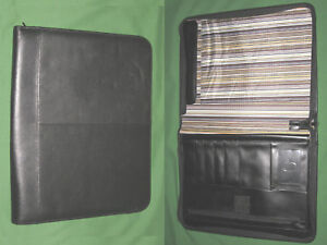 8 5x11 Note Pad Black Leather Buxton Planner Binder Franklin Covey Monarch 9434