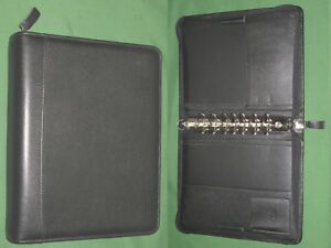 Classic 1 5 Black Top Grain Leather Franklin Covey Quest Planner Binder 4398
