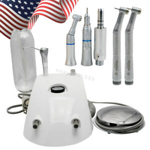Dental Turbine Unit Air Compressor Syringe 2 Hole High Low Speed Handpiece Kit