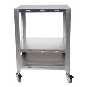Cadco Ov hds Half And Quarter Size Heavy Duty 2 Oven Stand With Wheels