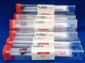 Lot Of 9 Fusion X cem Dental Resin Luting Cement model Fxc New