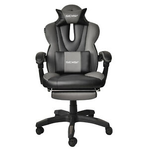 Executive Gaming Chair Swivel Recliner Leather Racing Seat Footrest Office Desk