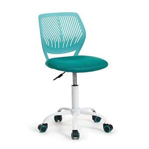 Green Forest Office Task Desk Chair Adjustable Mid Back Home Children Study