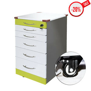 Dental Rolling Storage Cabinet Chest Cart Garage Toolbox With 5 Drawers Wheels